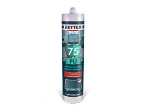 Zettex PU 75 چسب خودرویی تکجزئی، با خاصیت انعطافپذیری دائم، بر پایه پلی اورتان و مخصوص شیشه اتومبیل است.