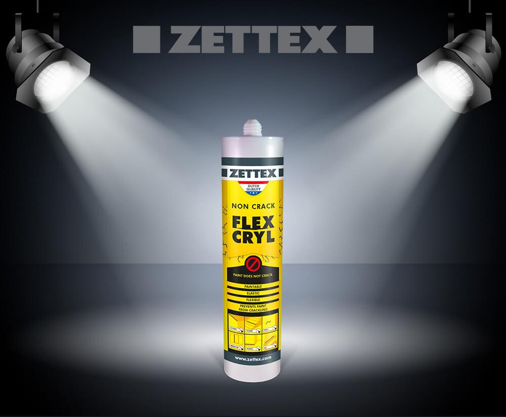 تصویر درزگیر اکریلیک بدون ترک زتکس Zettex Flexcryl Non- Crack