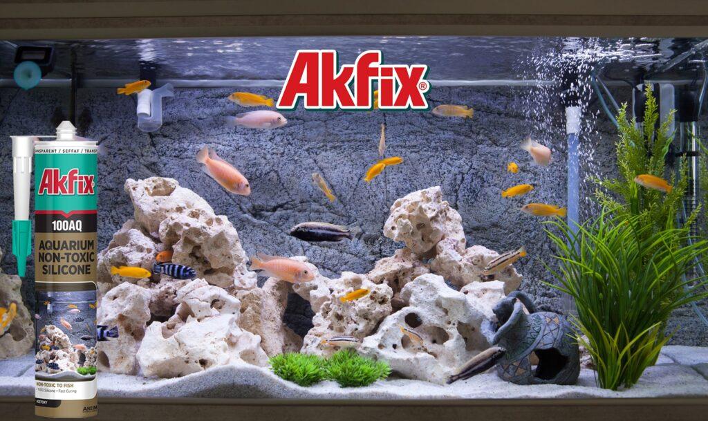 درزگیر سیلیکون اسیدی ویژه آکواریوم آکفیکس Akfix Silicone 100AQ