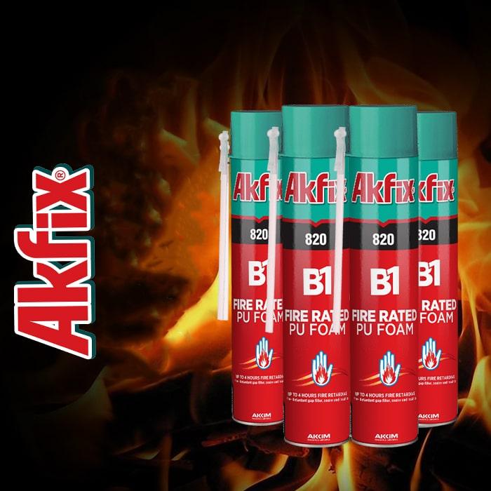 مشخصات فوم پلی اورتانی ضد حریق آکفیکس Akfix PU Foam 820 B1