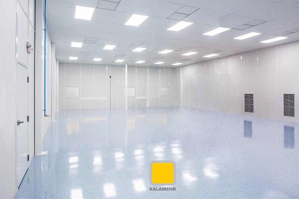 تصویر فضا و شرایط مناسبی که برای کلین روم در نظر گرفته شده است.