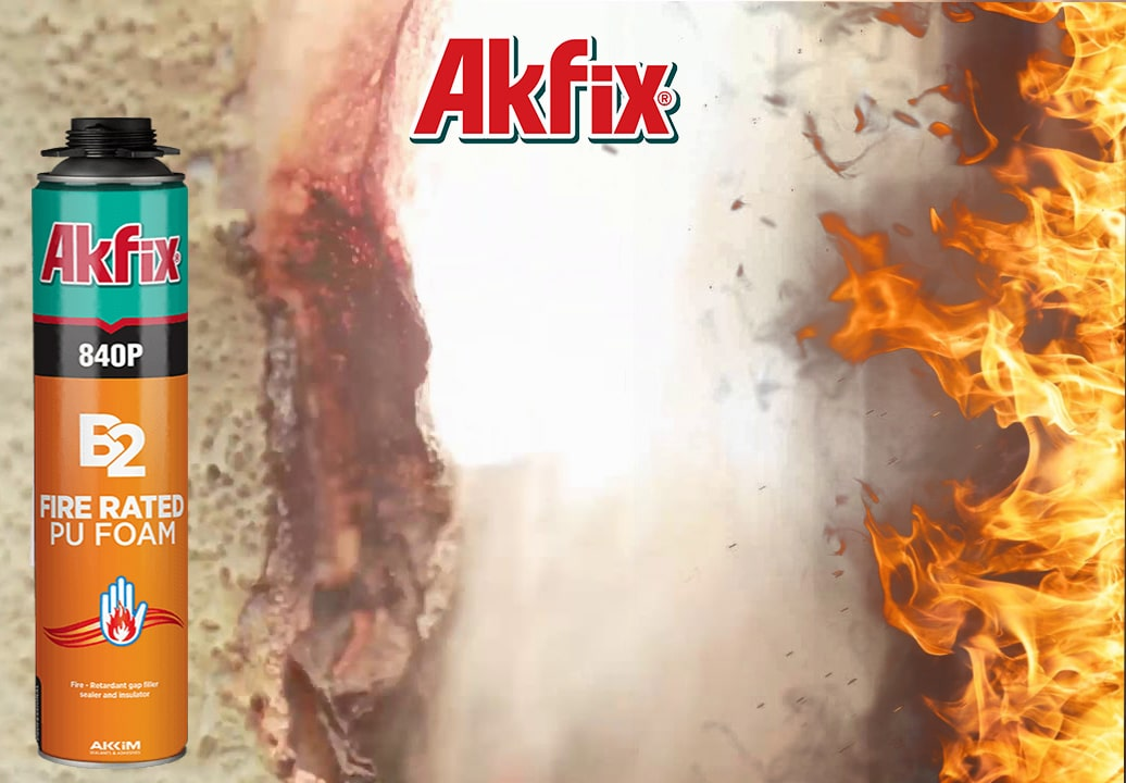 فوم گانخور پلی اورتانی ضد حریق آکفیکس Akfix PU Foam 840P B2