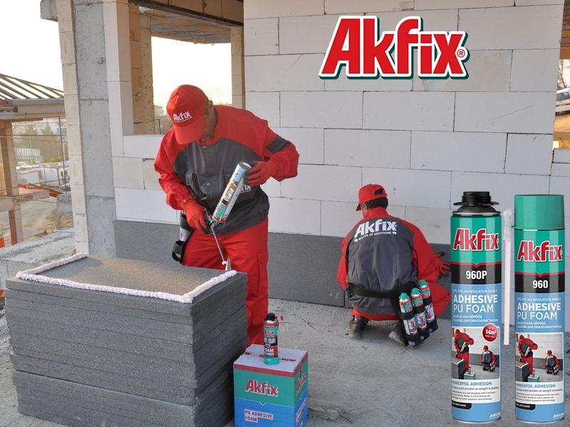 فوم چسب پلی اورتانی شلنگی آکفیکس Akfix 960