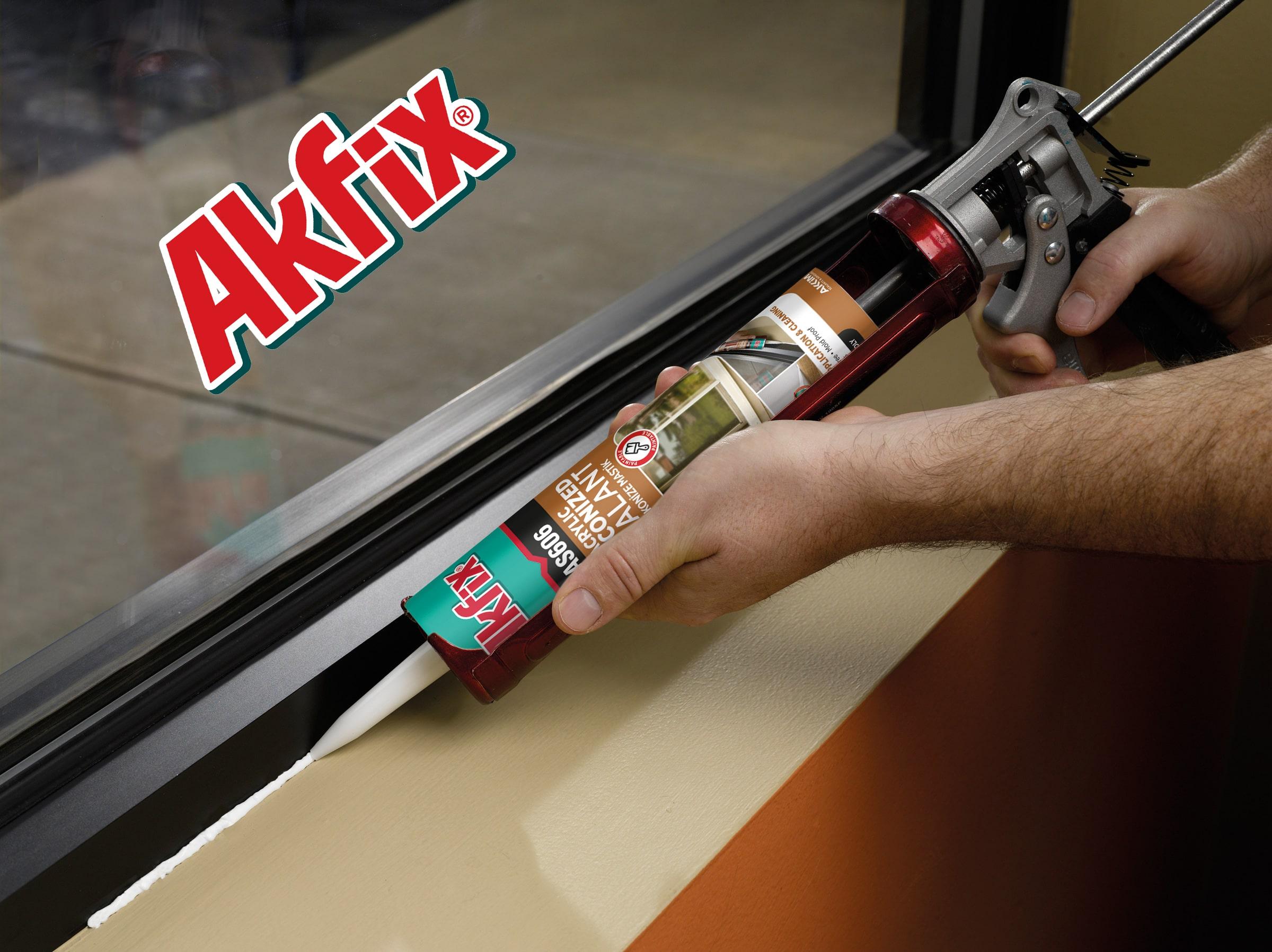 درزگیر اکریلیک سیلیکونی آکفیکس Akfix AS606